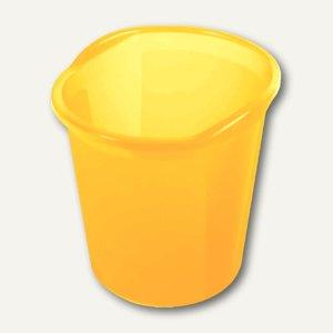 "Helit Papierkorb ""Economy transluzent"", 13 Liter, gelb, H2360211"