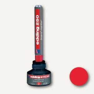 Edding Nachfülltusche BTK25 für Whiteboard-Marker, 25 ml, rot, 4-BTK25002