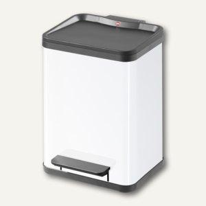 Hailo Tret-Abfalltrenner öko duo 22, 2 x 11 Liter, Stahlblech, weiß, 0622-422