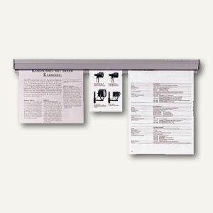 Franken Papierklemmschiene, 4 x 58 cm, grau, PKS58