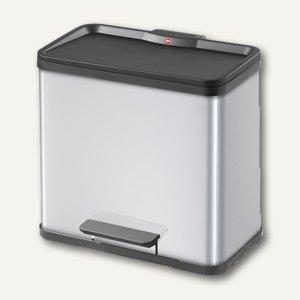 Hailo Tret-Abfalltrenner öko trio 33, 3 x 11 Liter, Stahlblech, silber, 0633-222