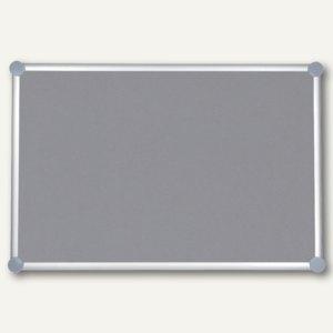 Hebel Pinnboard 2000, Textil, 100 x 150 cm, pinnfähig, grau, 6295484