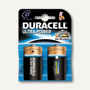 Duracell Batterien Ultra Power D, Mono, 2 Stück, DUR002906