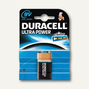 Duracell Batterien Ultra Power, 9 V-Block, DUR002951