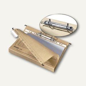 Herlitz Hängesammler DIN A4 mit Ringmechanik, chamois, 8 Stück, 10903045