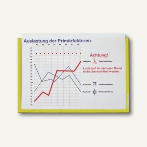 Ultradex Infotasche DIN A5, quer, selbstklebend, gelb, 5 Stück, 878502