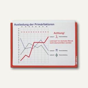 Ultradex Infotasche DIN A5, quer, selbstklebend, rot, 5 Stück, 878505