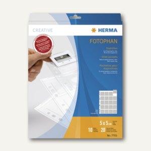 Herma Diahüllen für KB-Dias m. dünnen Rähmchen, 5x5, klar, 30 St., 7701