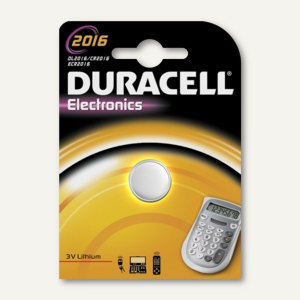 Duracell Lithium Knopfzelle ELECTRONICS, CR2016, 15074596