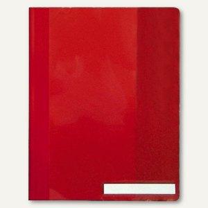 Durable Schnellhefter DIN A4, überbreit, Hartfolie, rot, 25 Stück, 2510-03