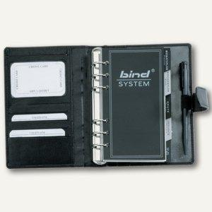 bind Systemplaner DIN A6, inkl. Kalender, 1 Tag = 1 S, Nappaleder, schwarz,10111