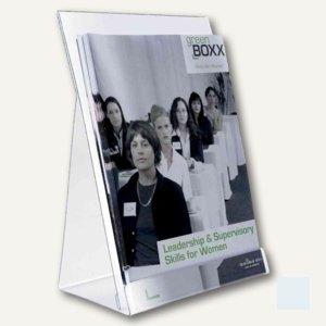 Durable Prospektspender DIN A5 für ca. 100 Blatt, transparent, 2 Stück, 8595-19