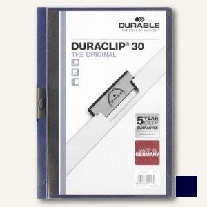 Durable Klemm-Mappe DURACLIP, DIN A4, bis 30 Blatt, nachtblau, 2200-28