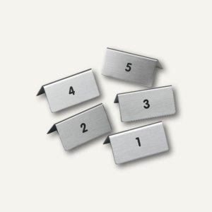 Tischaufsteller mit Nr. 1-5