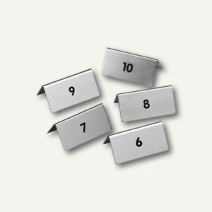 Tischaufsteller mit Nr. 6-10