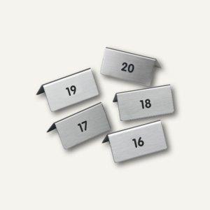 Tischaufsteller mit Nr. 16-20