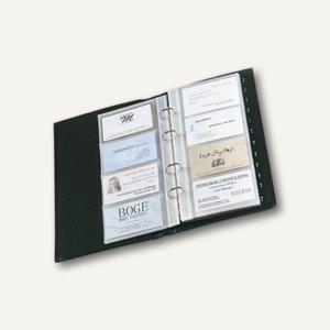 Sigel Visitenkartenringbuch Torino, Nappaleder, f. 160 Karten bis 90x58mm, VZ204