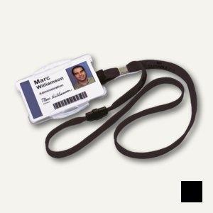 Durable Textilband 10 mit Sicherheitsverschluss, schwarz, 20 Stück, 8119-01