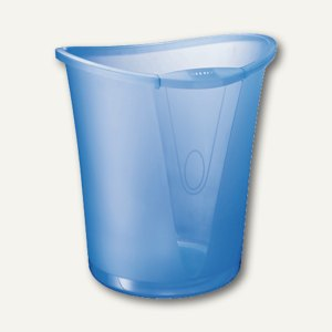 LEITZ Papierkorb ALLURA, 18 Liter, kristall blau, 5204-00-05