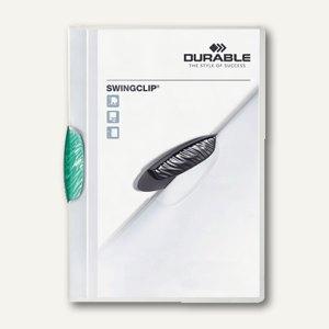 Durable Klemm-Mappe Swingclip DIN A4, bis 30 Blatt, petrol, 25 Stück, 2260-32
