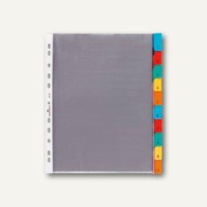 Durable Hüllenregister, 10 tlg., Universal-Lochung, transparent, 4 Stück,6632-19