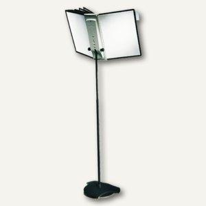 Sichttafel-Bodenständer SHERPA® FLOOR 10, mit 10 Tafeln, anthrazit/grau, 5817-00