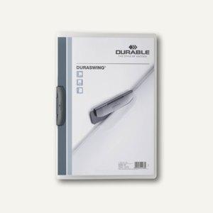 Durable Klemm-Mappe Duraswing DIN A4, bis 30 Bl., graphit, 25 St., 2290-37