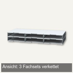 Exacompta Fach-Set MODULODOC NORMAL, H 56 xT 350 mm, mausgrau-lichtgrau, 340740D