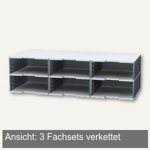 Exacompta Fach-Set MODULODOC JUMBO, H 110 x T 350 mm, mausgrau-lichtgrau,360740D