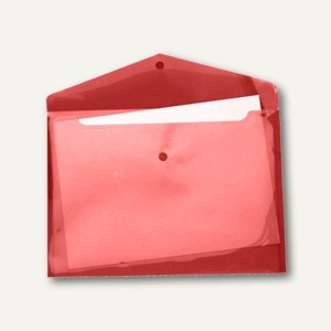 FolderSys Dokumententaschen A4 quer, Druckknopf, PP rot, 100 St., 40111-84