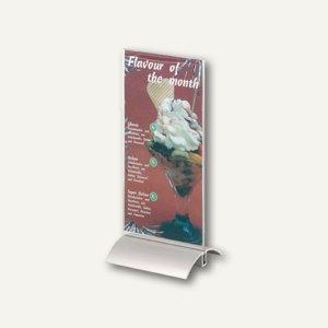 Durable Tischaufsteller Presenter 1/3 A4, Aluminiumfuß, 107x237x85 mm, 8587-19