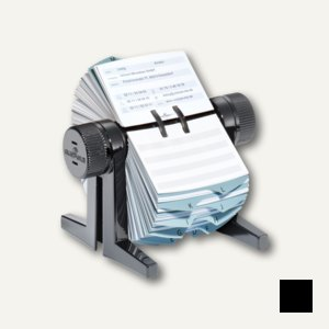 Durable Rotationskartei TELINDEX® cubo, 215 x 120 x 185 mm, schwarz, 2446-01
