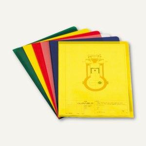 Durable Sichthülle DIN A4, PP, 0.12 mm, gelb, 300 Stück, 2337-04