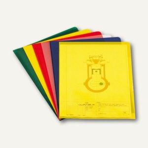 Durable Sichthülle DIN A4, Hartfolie, 0.15 mm, gelb, 150 Stück, 2339-04
