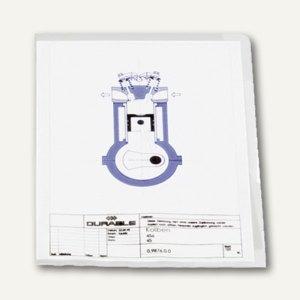 Durable Sichthülle DIN A4, Hartfolie, 0.15 mm, transparent, 150 Stück, 2339-19