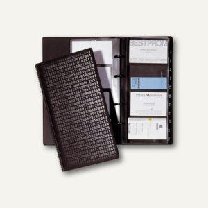 Durable Visitenkarten-Ringbuch VISIFIX centium, schwarz, 2403-01