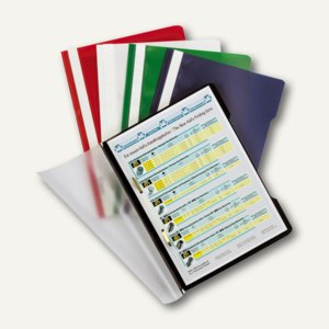 Durable Schnellhefter, DIN A4, PP, sortierte Farben, 50 Stück, 999107802