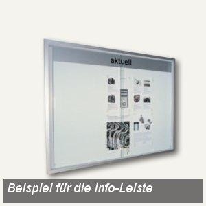 Info-Leiste INTRO-KL m. Beschriftung/Logo in schwarz