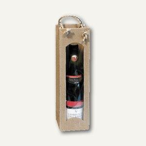 smartboxpro Flaschentragetasche mit Sichtfenster, natur, 229100120
