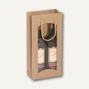 Flaschentragetasche mit Sichtfenster