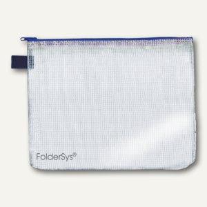 FolderSys Mehrzweck-Reißverschluss-Beutel, DIN A4, blau, 50 Stück, 40402-40