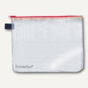 FolderSys Mehrzweck-Reißverschluss-Beutel, DIN B6, rot, 50 Stück, 4040580