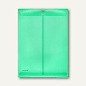 FolderSys Dokumententaschen, DIN A4 hoch, Klett, grün, 100 St., 40104-54