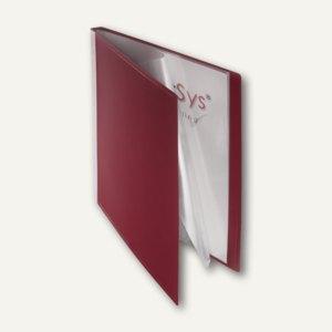 FolderSys Sichtbuch DIN A4, incl. 20 Hüllen, rot, 20 St., 2500288