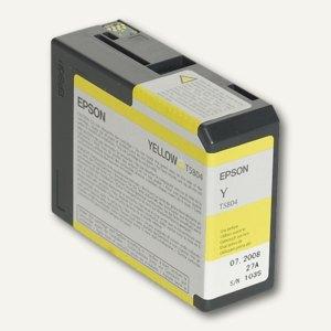 Epson Tintenpatrone T5804 für Stylus Pro 3800, gelb, C13T580400