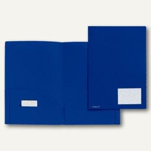 Broschüren-Mappe A4, PP, Abheftlaschen, Taschen/Innen, 2x 50 Bl., blau, 20 St.,