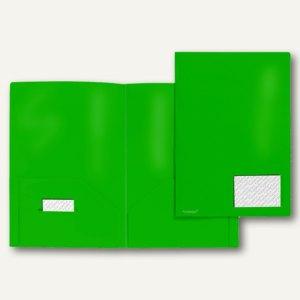 Broschüren-Mappe A4, PP, Abheftlaschen, Taschen/Innen, 2x 50 Bl., grün 20 St., 1