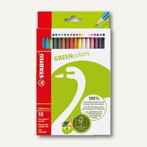 STABILO Farbstifte GREENcolors aus FSC-Holz, 18 St., sortiert, 6019/2-181