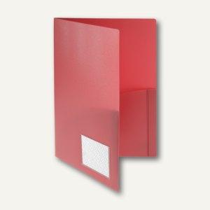 FolderSys Broschüren-Mappe A4, Innentaschen, Abheftlasche, rot, 20 St, 1000880