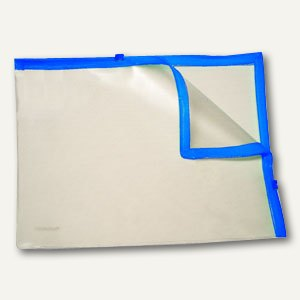 Doppel-Zip Tasche, 324 x 243 mm, PVC, transluzent/blau, 50 Stück, 4043440